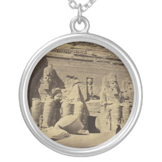Colossal Figures, the Great Temple at Abu Sunbul Silver Plated Necklace