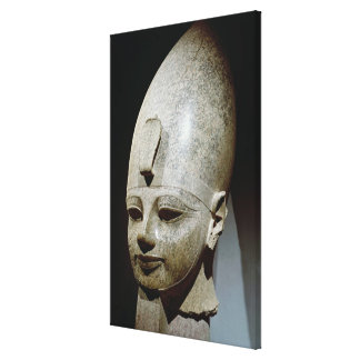 Colossal head of Amenhotep III, from al-Qurnah Canvas Print