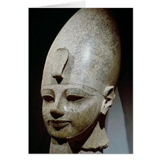 Colossal head of Amenhotep III, from al-Qurnah Greeting Card