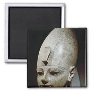 Colossal head of Amenhotep III, from al-Qurnah 2 Inch Square Magnet
