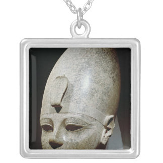 Colossal head of Amenhotep III, from al-Qurnah Square Pendant Necklace