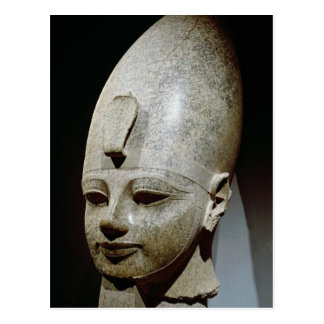Colossal head of Amenhotep III, from al-Qurnah Post Cards