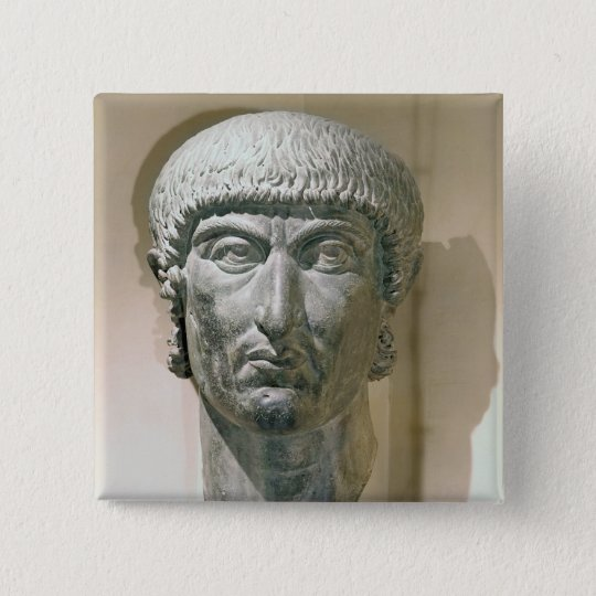 Colossal head of Emperor Constantine I Button