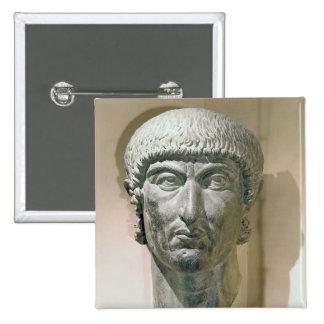 Colossal head of Emperor Constantine I Button