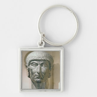 Colossal head of Emperor Constantine I Key Chains
