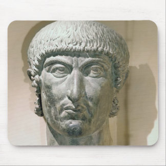 Colossal head of Emperor Constantine I Mouse Pad