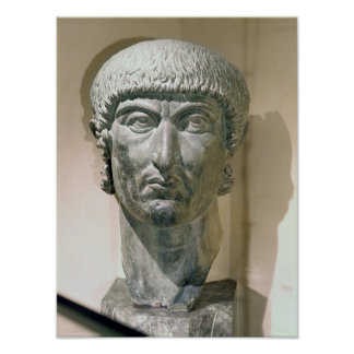 Colossal head of Emperor Constantine I Poster