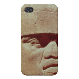 Colossal head, Olmec iPhone 4 Cases