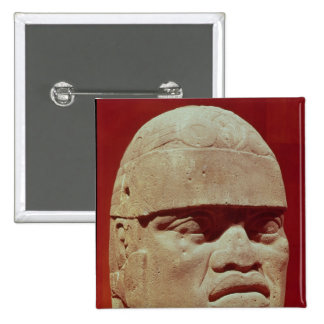 Colossal head, Olmec Pinback Button