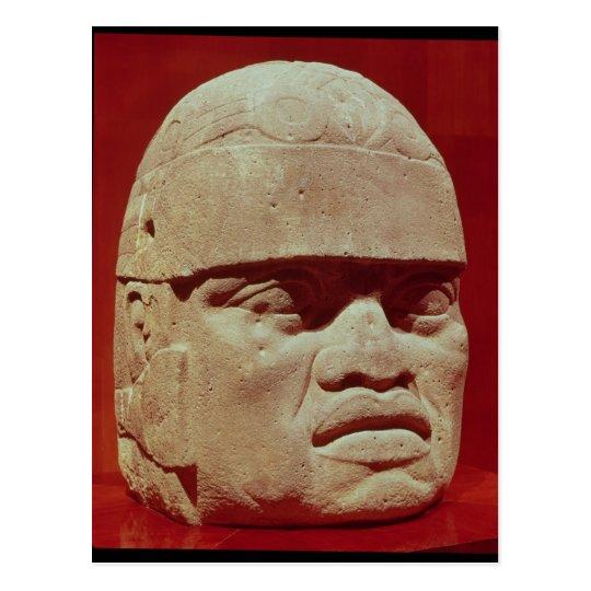 Colossal head, Olmec Postcard