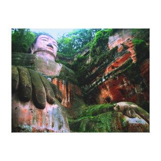 Colossal Le Shan Buda Lona Envuelta Para Galerías