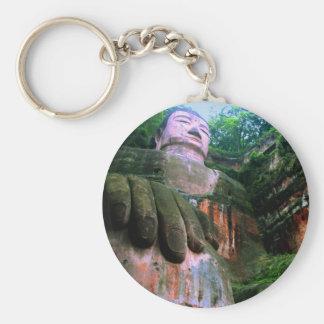 Colossal Le Shan Buddha Basic Round Button Keychain