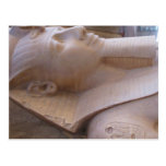 Colossal limestone statue of Ramses II Memphis Postcard