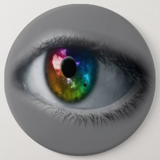 COLOSSAL Rainbow Eyeball, 6 inch Pins buttons