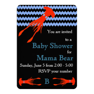 Colossal Squid Baby Shower Invitation