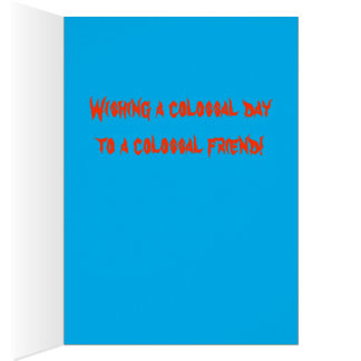 Colossal squid birthday card