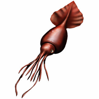 Colossal Squid Cutout Magnet/Sculpture