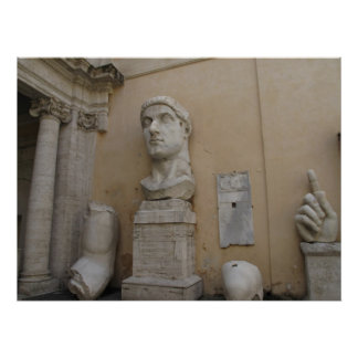 Colossal statue of Constantine, Rome, 315-220 Poster