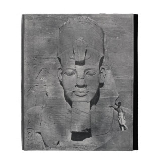 Colossal statue of Ramesses II at Abu Simbel, 1850 iPad Folio Covers