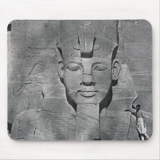 Colossal statue of Ramesses II at Abu Simbel, 1850 Mousepads
