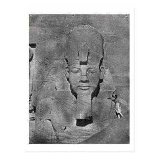 Colossal statue of Ramesses II at Abu Simbel, 1850 Postcard