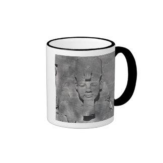 Colossal statue of Ramesses II at Abu Simbel, 1850 Ringer Coffee Mug