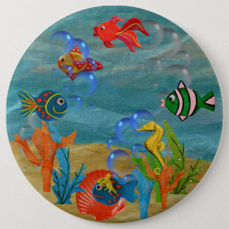 COLOSSAL Tropical fish, 6 inch Pins buttons