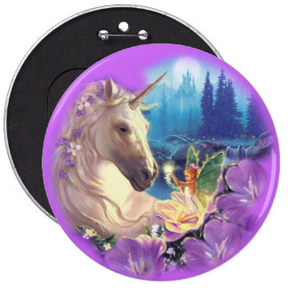 COLOSSAL Unicorn and Fairy, 6 inch Pins buttons