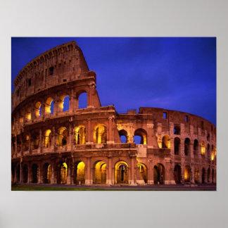 Colosseo Anfiteatro Flavio Roma Italia Poster