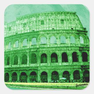 Colosseo Pegatina Cuadrada
