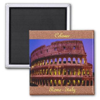 Colosseo (Roma) Imán Cuadrado