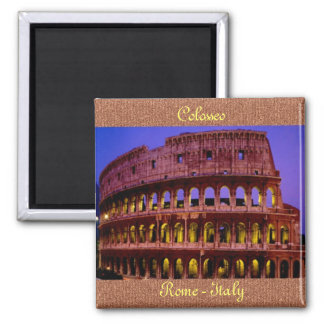 Colosseo (Rome) 2 Inch Square Magnet