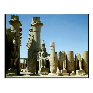Colosses Ramesses II  and  Pylon of Amenophis Postcard