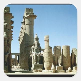 Colosses Ramesses II  and  Pylon of Amenophis Square Sticker