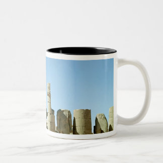 Colosses Ramesses II  and  Pylon of Amenophis Two-Tone Coffee Mug
