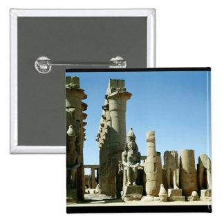 Colosses Ramesses II y pilón de Amenophis Pin Cuadrada 5 Cm