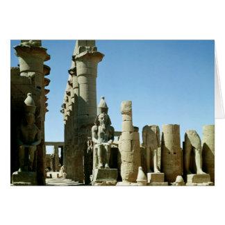 Colosses Ramesses II y pilón de Amenophis Felicitacion