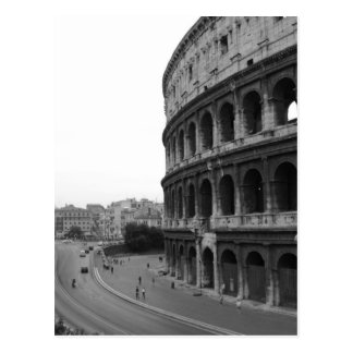 Colosseum and Road Postcard