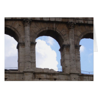 colosseum arches greeting cards