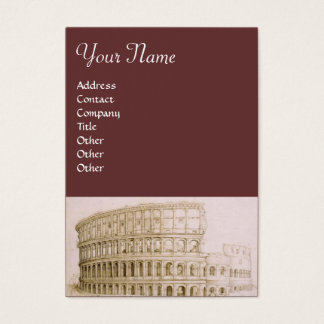 COLOSSEUM / Architecture, Architect , Brown Business Card