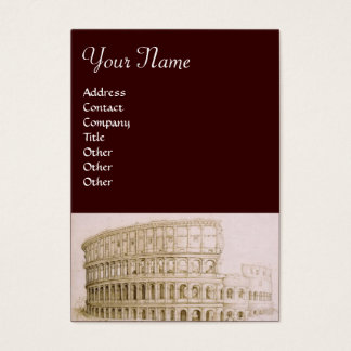 COLOSSEUM / Architecture, Architect , Brown White Business Card