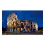 Colosseum at Dusk Poster