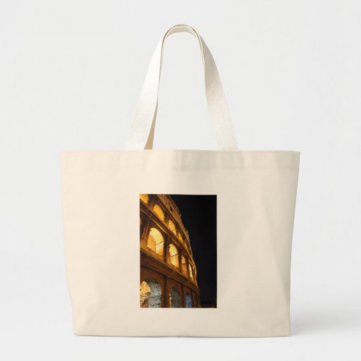 Colosseum at night canvas bags