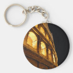 Colosseum at night keychain