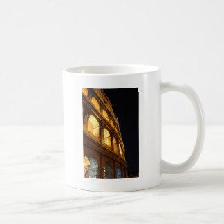 Colosseum at night mug