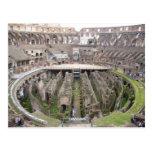 colosseum circle postcard