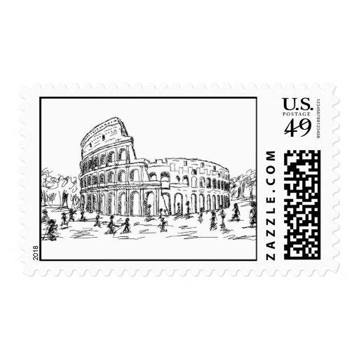 colosseum de Roma Sello
