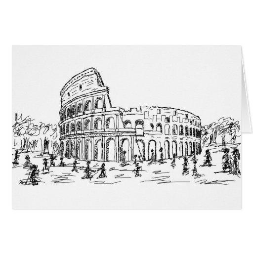 colosseum de Roma Tarjeta De Felicitación