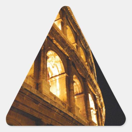 Colosseum en la noche calcomanías de trianguloes personalizadas