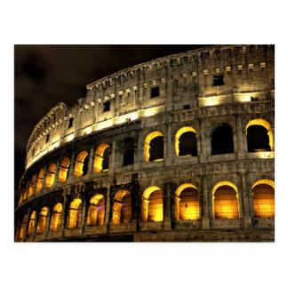 Colosseum en la postal de la noche